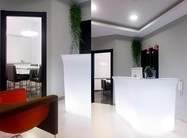 Hall de entrada, Brigantia Centro de Negocios, A Coruña